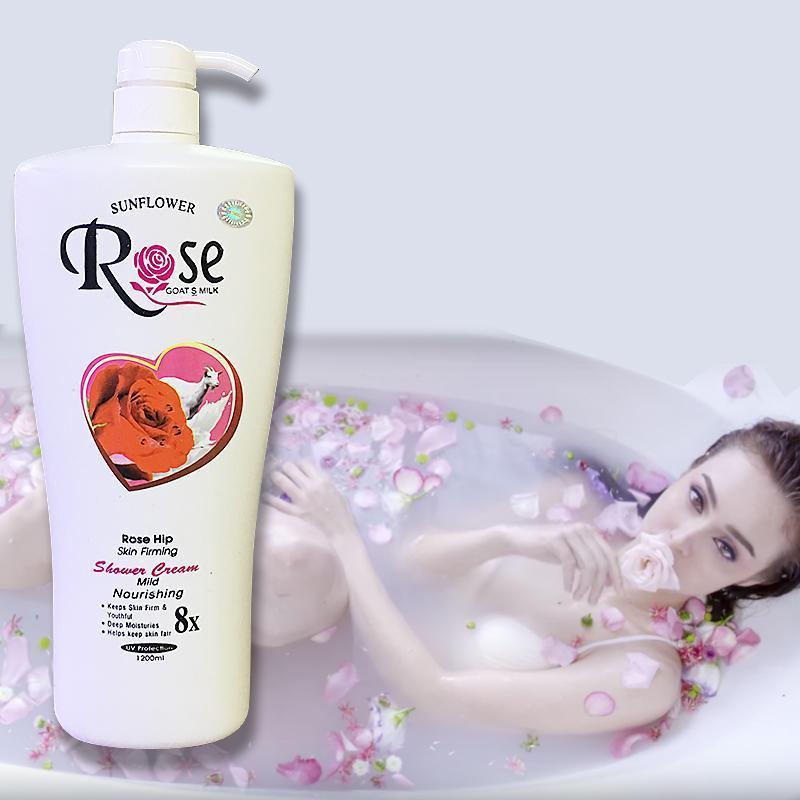 [ HƯƠNG THƠM NGẤT NGÂY ] Sữa Tắm Dê Rose 8x Cao Cấp xuất Bungari Chai Khổng Lồ 1200ml, HSD đến tháng 09-2022