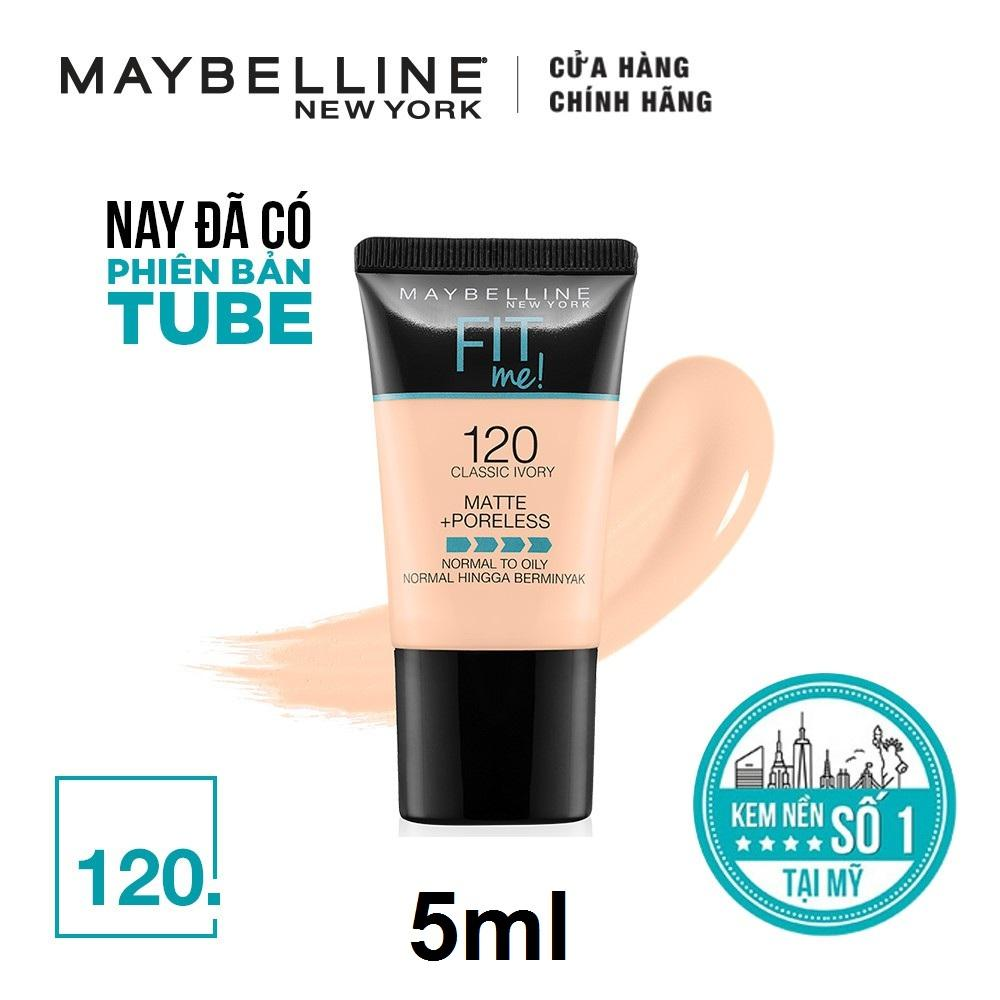 KEM NỀN MAYBELLINE FITME MATTE PORELESS FOUNDATION TUBE MINI 5ML tốt nhất