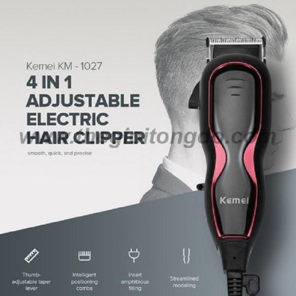 Tông đơ cắm điện Kemei Km 1027Tông đơ cắt tóc chuyên nghiệp Kemei KM-1027 hàng nhập Tông đơ cắt tóc Kemei KM-1027 - KM 1027Nơi bán Tông đơ cắm điện Kemei Km 1027 giá rẻ