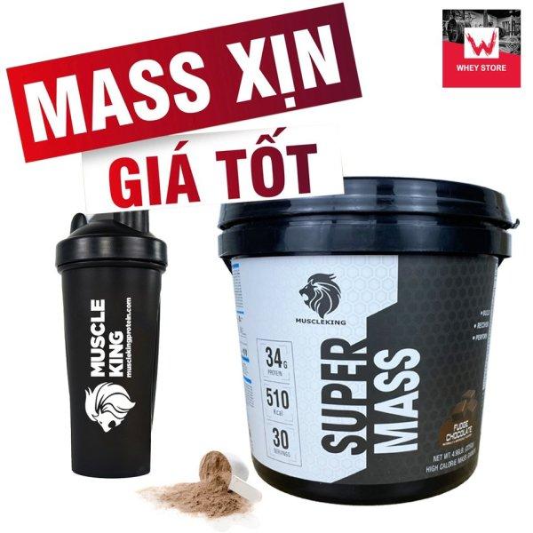 [HCM](Tặng Shaker) Sữa Tăng Cân SUPER MASS 225 KG - MUSCLE KING -SỮA TĂNG CÂN NHANH -  TĂNG CÂN NẠC- TĂNG CƠ giá rẻ