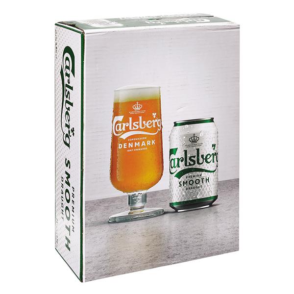 E - Thùng 24 Lon Bia Carlsberg 330Ml