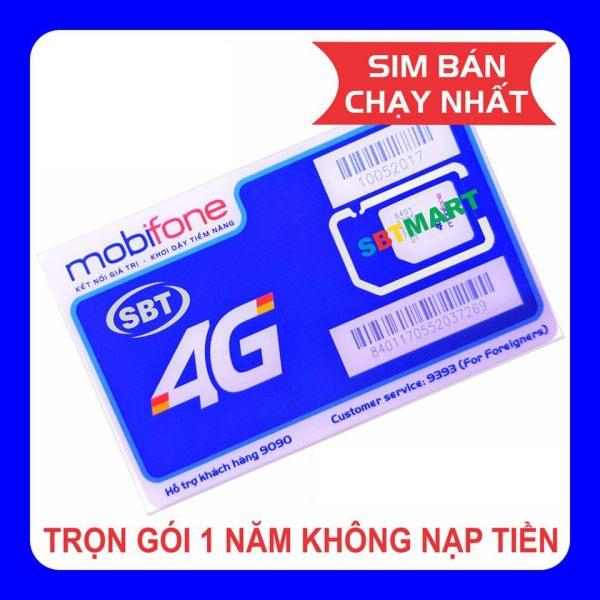 Giá Sim 4G Mobifone trọn gói 1 năm không nạp tiền