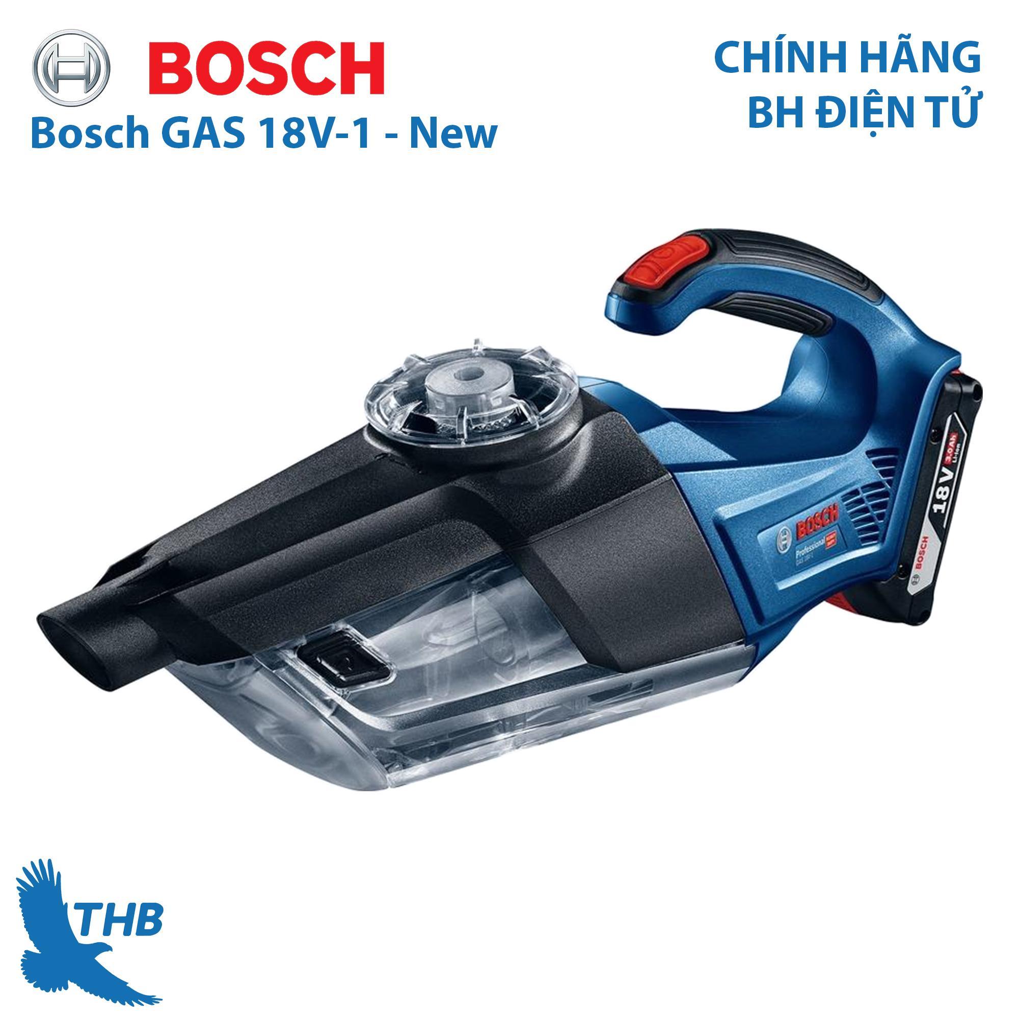 Máy hút bụi dùng pin Bosch GAS 18V-1 Set Xuất xứ Trung Quốc Bảo hành 12 tháng 1 Pin 18V 3Ah