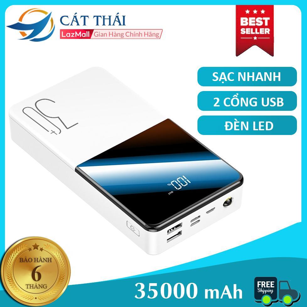 Pin sạc dự phòng Cát Thái HT-T223S chất lượng cao dung lượng lớn 35000mAh sạc nhanh Hiển thị lượng pin iPhone Android đều có thể sử dụng