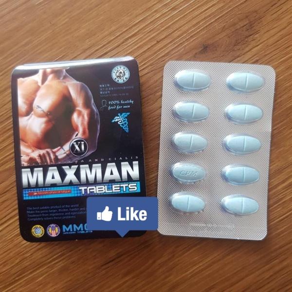 Tăng cường sinh lực, kéo dài thời gian yêu Maxman 3800 Mỹ hỗ trợ giảm xuất tinh sớm