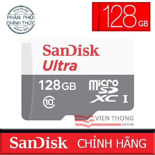 Thẻ nhớ microSDHC SanDisk Ultra 128GB upto 80MB/S 533x - Chính hãng phân phối (PT)