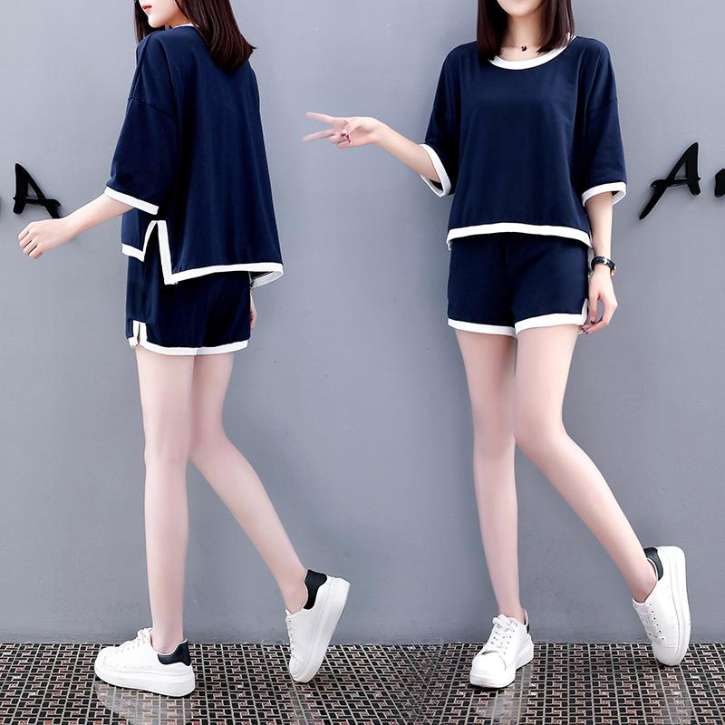 439fb06da0e 2019 Spring And Summer Korean Style New Style Leisure Loose And Plus-sized  Slimming Two