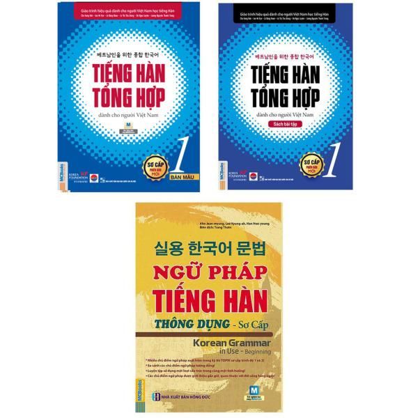 Sách - Combo Giáo Trình Tiếng Hàn Tổng Hợp Sơ Cấp 1 ( Bản In Màu ) Và Ngữ Pháp Tiếng Hàn