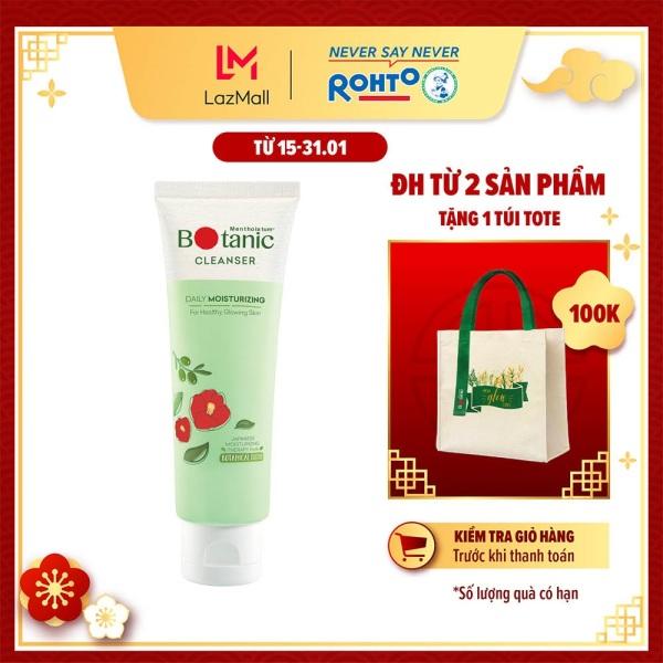 Gel rửa mặt ẩm mịn, sáng khỏe Mentholatum Botanic Cleanser 80g nhập khẩu