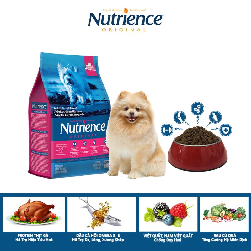 Thức Ăn Cho Chó Phốc Nutrience Original Hỗ Trợ Da Lông Bóng Mượt, Hệ Tiêu Hóa, Hệ Miễn Dịch Khỏe Mạnh - Thịt Gà, Rau Củ Và Trái Cây Tự Nhiên