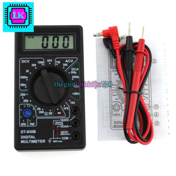 Đồng hồ đo điện volt ohm amp ac/dc đa năng digital multimeter dt830b