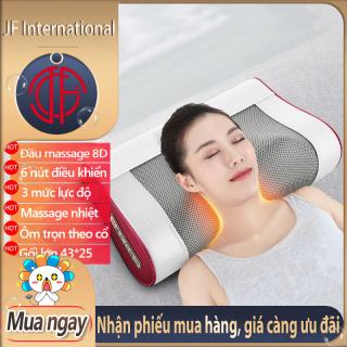 Gối mát xa cao cấp thế hệ mới massage có gối lưng an toàn cho người sử dụng - minh phù hợp sử dụng trên xe ô tô và tại nhà - JF International thumbnail