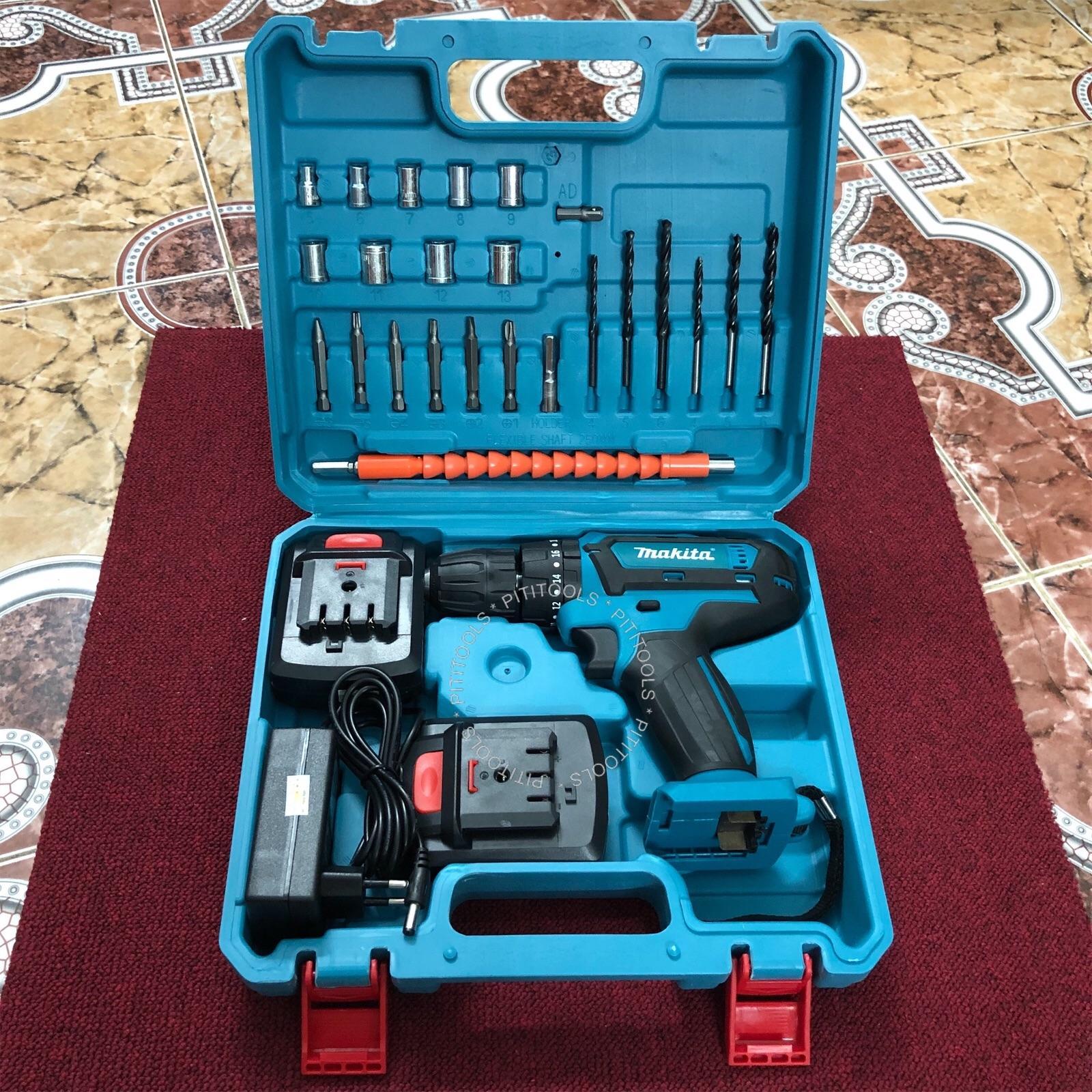 Máy khoan pin PITITOOLS PTS0003 MKT 21V đủ đồ