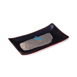 Khay Chữ Nhật Men Cánh Gián (size 13cm x8cm) - Khay khăn - Gốm Cao Cấp Bát Tràng thumbnail