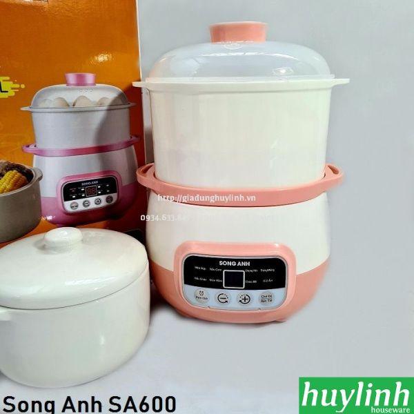 Nồi chưng yến, nấu cháo và hấp cách thuỷ Song Anh SA600 -