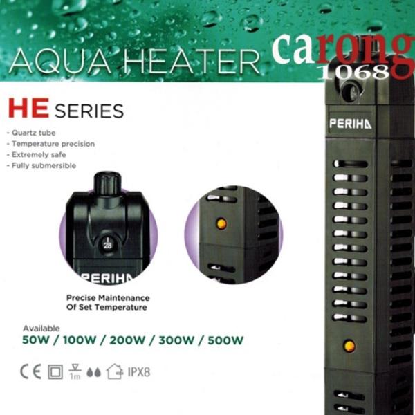 Sưởi Hồ Cá Có Vỏ Bọc An Toàn Heater Periha He 300W - Hàng Công Ty