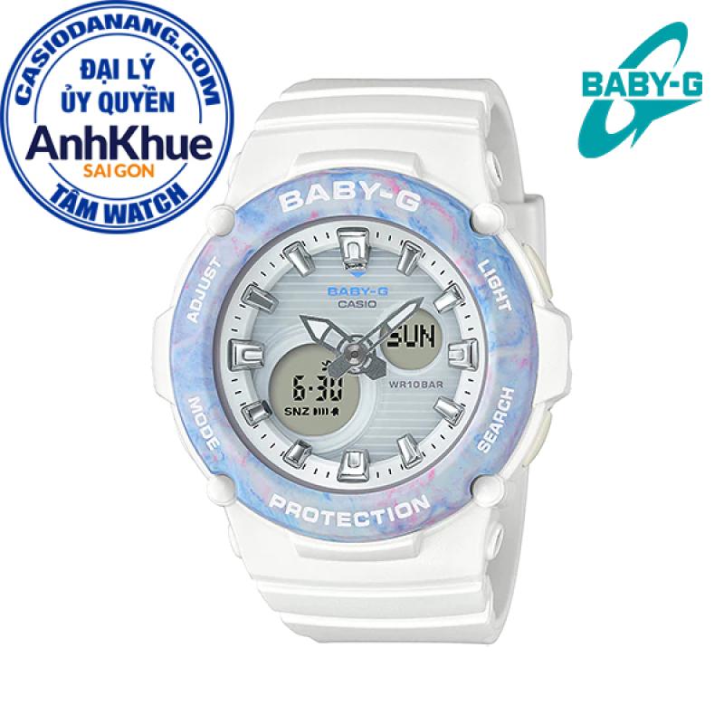 Đồng hồ nữ dây nhựa Casio Baby-G chính hãng Anh Khuê BGA-270M-7ADR (42mm)