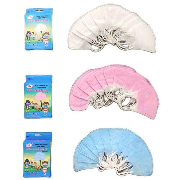 Khẩu Trang Trẻ em từ 1-6 tuổi Mask 5d, 3d kid mask NAM ANH hộp 10 cái Famapro giá rẻ