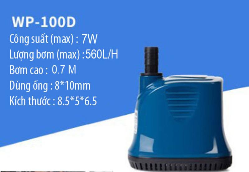 Máy bơm chìm hút đáy dùng nguồn 220V, bơm hút đáy 360 độ SOBO