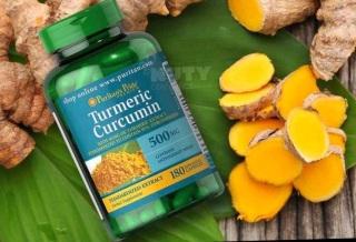 Viên uống tinh dầu nghệ Puritan s Pride Turmeric Curcumin 500mg hộp 180 viên thumbnail