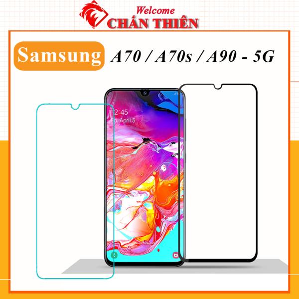 Kính cường lực Samsung A70 A70s A90 5g full màn hình và trong suốt cảm ứng mượt tặng kèm khăn lau