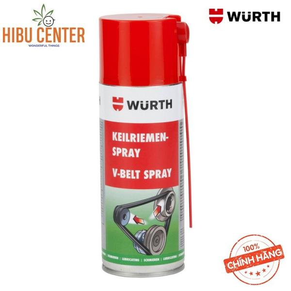 Chai xịt Bảo dưỡng dây curoa Wurth V-Belt Spray 400ml - 0893230