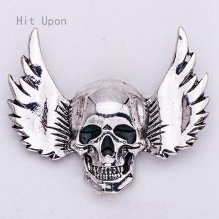 Vintage Bạc Màu Kim Loại Brooch Pins Halloween Skull Wings Trâm Cài Đối Với Phụ Nữ Khăn Mũ Huy Hiệu Pin Trang Trí Trang Phục thumbnail