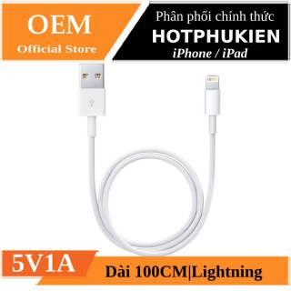 Dây cáp sạc Lightning tiêu chuẩn cho iPhone iPad dài 100CM hiệu HOTCASE (Bảo hành 03 tháng 1 đổi 1) - Phân phối bởi Hotphukien thumbnail