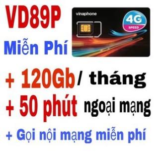Sim 4G Vinaphone 12VD89P trọn gói 1 năm không cần nạp tiền 4GB ngày (120GB tháng) tốc độ cao 4G + 50 phút gọi ngoại mạng + Miễn phí gọi nội mạng Vinaphone thumbnail