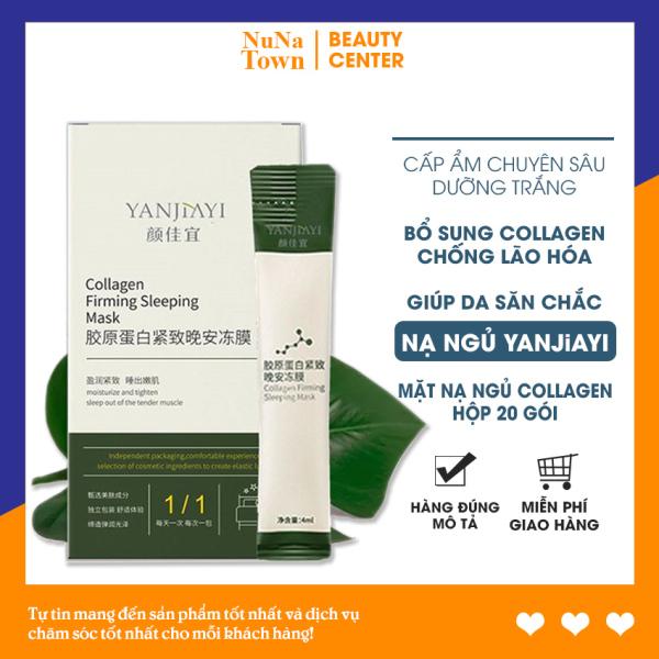 ♥ [Hộp 20 gói] Mặt nạ ngủ thạch Collagen nội địa Trung bổ sung Collagen giúp nâng cơ mặt giảm nếp nhăn - NuNa Town