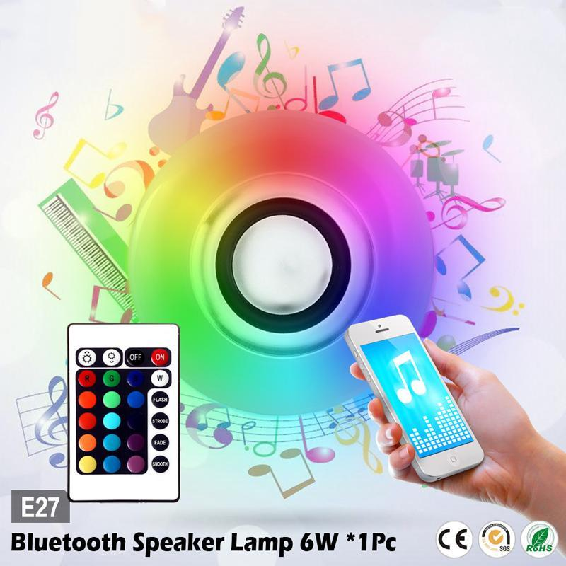 Bảng giá Wireless LED Bulb Light Remote Control Bar Lamp Smart Mini Music Player Bluetooth Speaker Loudspeaker Speaker Phong Vũ