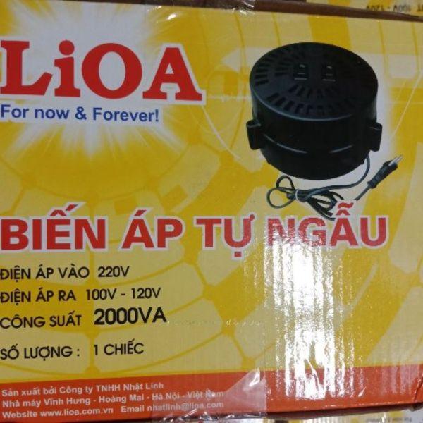Biến áp Lioa 2000VA đổi điện 220v ra 100-120VAC