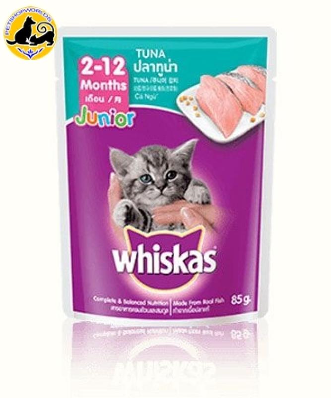 Pate Cho Mèo Con Vị Cá Ngừ Whiskas Junior Tuna 85g