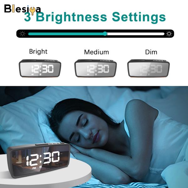 Đồng Hồ Điện Tử Blesiya Cho Phòng Ngủ, Màn Hình LED Kỹ Thuật Số bán chạy
