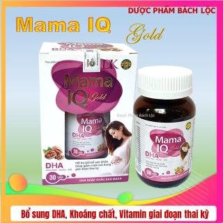 Viên uống Mama IQ Giúp bổ sung DHA và Vitamin tổng hợp cho Bà bầu - Hộp 30 viên chuẩn GMP Bộ Y Tế- HSD 2023 thumbnail