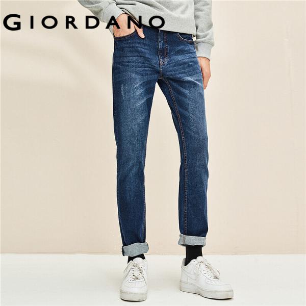 Quần jean dài nam có wash nhẹ trẻ trung vải co dãn ôm dáng Giordano FreeShip 01119070