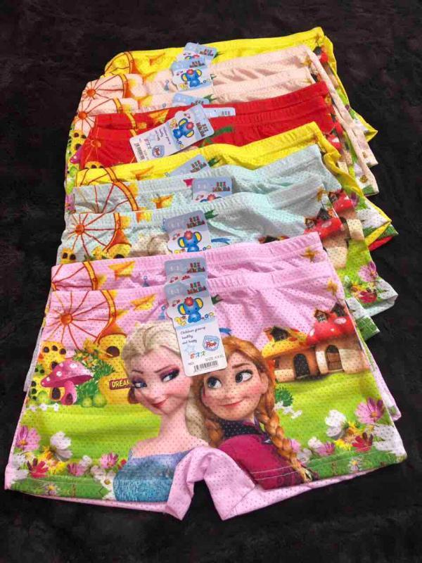 Nơi bán Combo 10 quần chíp đùi thông hơi in hình 3d công chúa elsa cho bé gái