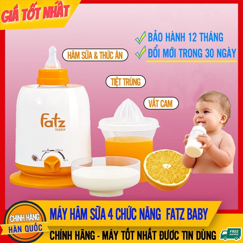 Máy Hâm Sữa Fatz 4 Chức Năng (FB3002SL) Hâm Thức Ăn, Tiệt Trùng, Hâm Nước Pha Sữa, Giữ Nóng, Vắt Cam - Máy Tiệt Trùng Và Ủ Bình Sữa Fatz Baby Cho Bé (FatzBaby Tốt Hơn Philips Avent, Moaz Bebe, Rozabi, Yummy) - May Ham Sua Fatz 4 Chuc Nang Giá Hot Siêu Giảm tại Lazada
