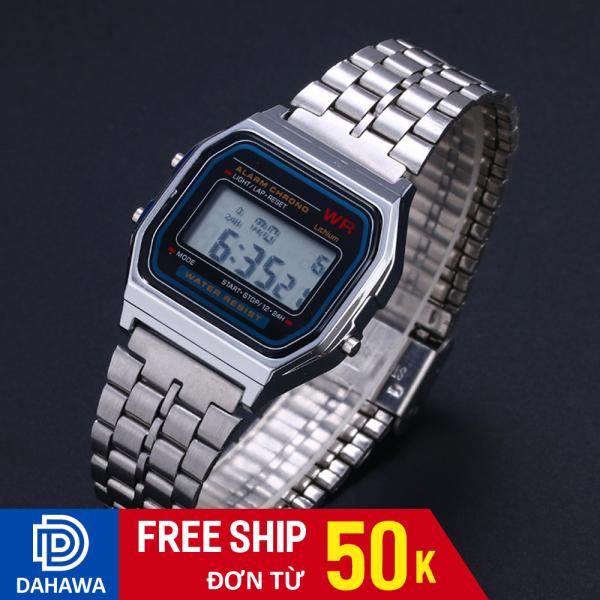 Nơi bán Đồng hồ điện tử C120, Đồng hồ nam nữ, dây thép không gỉ, có đèn ban đêm, bảo hàng 6 tháng