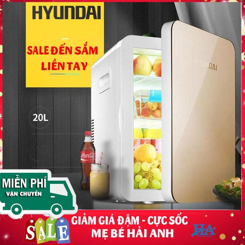 Tủ lạnh mini Hyundai 20L cao cấp 2 chiều nóng lạnh dùng cho xe hơi, oto và gia đình - GDPHONG03