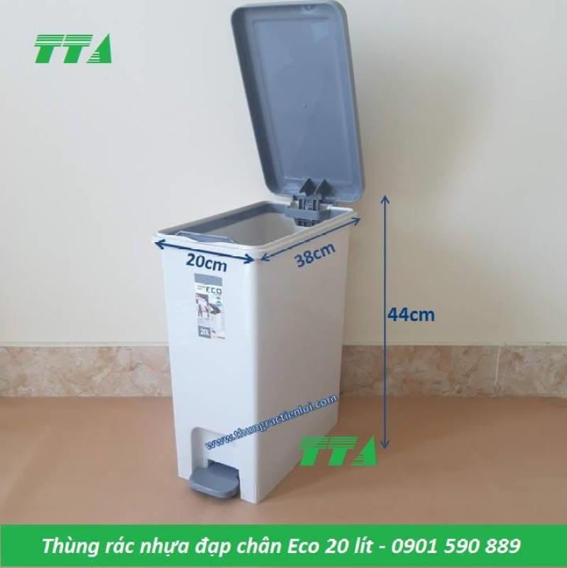 Thùng rác nhựa đạp chân Eco 20 lít