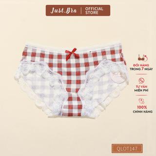 Quần lót nữ Just Bra chất liệu cotton cao cấp thấm hút mồ hôi, thiết kế viền ren quyến rũ QLOT147 thumbnail