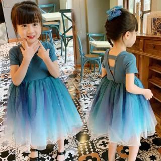 Zhihuida Váy Bé Gái 1-7 Tuổi Váy Công Chúa Màu Trắng Ngọt Ngào Cho Trẻ Em Bằng Cotton Váy Cô Gái Gradient Mùa Hè, Váy Đầm Trẻ Em Cho Bé Gái