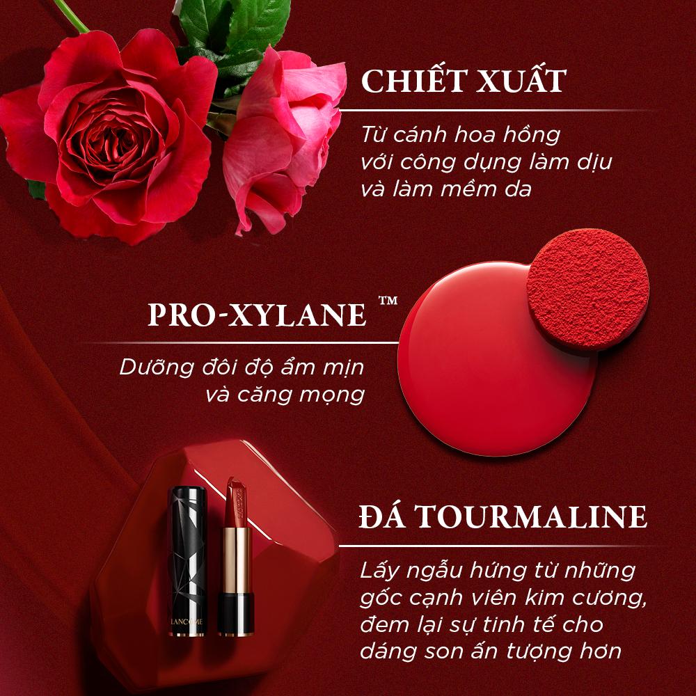 Son thỏi dạng kem satin mịn lì và lâu trôi Lancome L'Absolu Rouge Ruby Cream 3g