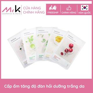 COMBO 5 Mặt nạ giấy Innisfree My Real Squeeze Mask Ex, chính hãng Hàn Quốc, dưỡng ẩm, cho da sáng mịn màng căng bóng thumbnail
