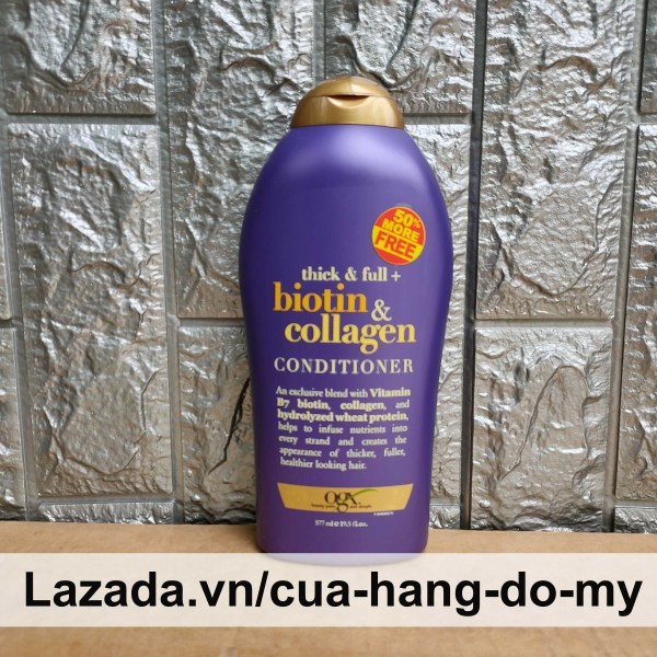 Dầu Xả Biotin & Collagen OGX 577ml - thick & full Conditioner