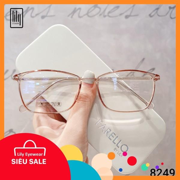 Giá bán [Lấy mã giảm thêm 30%]Mắt kính cận Lilyeyewears nữ kiểu dáng vuông tròn đa dạng màu sắc - 8249