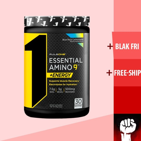 Rule 1 Essential AMINO 9 EAA ENERGY Phục Hồi Cơ Bắp 30 serving - Chính Hãng - Muscle Fitness