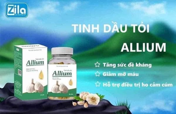 [Siêu Sale] TINH DẦU TỎI ALLIUM (60viên/ 1 hộp) BH 1đổi 1 bởi Thanh Thảo Beauty Store cao cấp