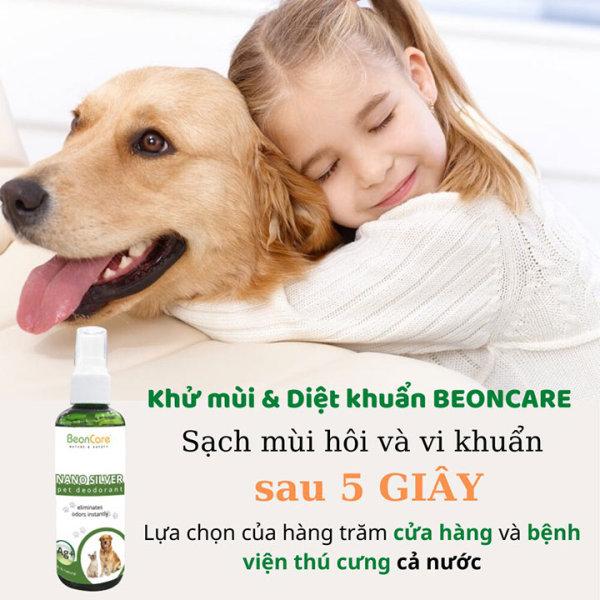 Xịt khử mùi thú cưng Nano Silver Pet Deodorant 100ml BeonCare - CutePets